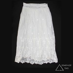 Sundance Astoria Skirt Embroidered Lace Modal